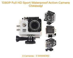 Win 1 of 3 1080P Sports Action Cameras