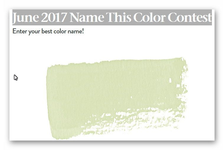 House Beautiful June 2017 Name This Color Contest Ends