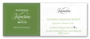 National Karasatan Month Sweepstakes – Win a Custom Bound Rug