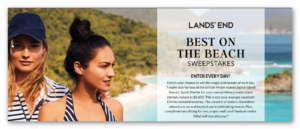 Lands End Best on the Beach Sweepstakes