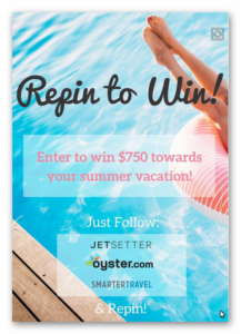 RePin to Win $750 Towards Summer Travel