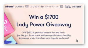 Win a $1,700 Lady Power Giveaway