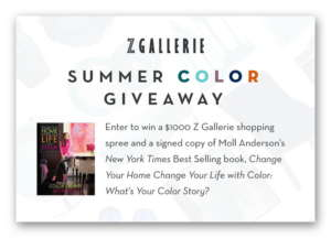 ZGallerie Summer Color Giveaway