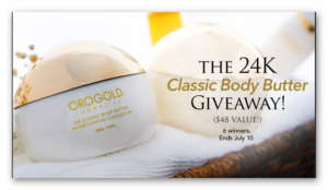 Orogold Cosmetics 24K Classic Body Butter Giveaway (6 winners)