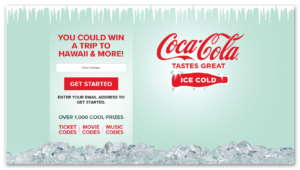 Share an Ice Cold Coca-Cola Sweepstakes Instant Win Game