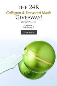Orogold Cosmetics 24K Collagen & Seaweed Mask Giveaway