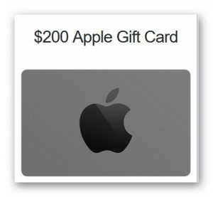 $200 Apple Gift Card Giveaway