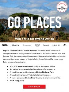 Win a Trip for 2 to Africa