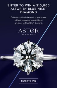 The Astor by Blue Nile™ Diamond 2017 Sweepstakes