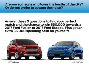 Ford Perfect Match Giveaway