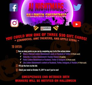 Win 1 of 3 Starbucks, AMC Theaters, and Apple Store Gift Cards