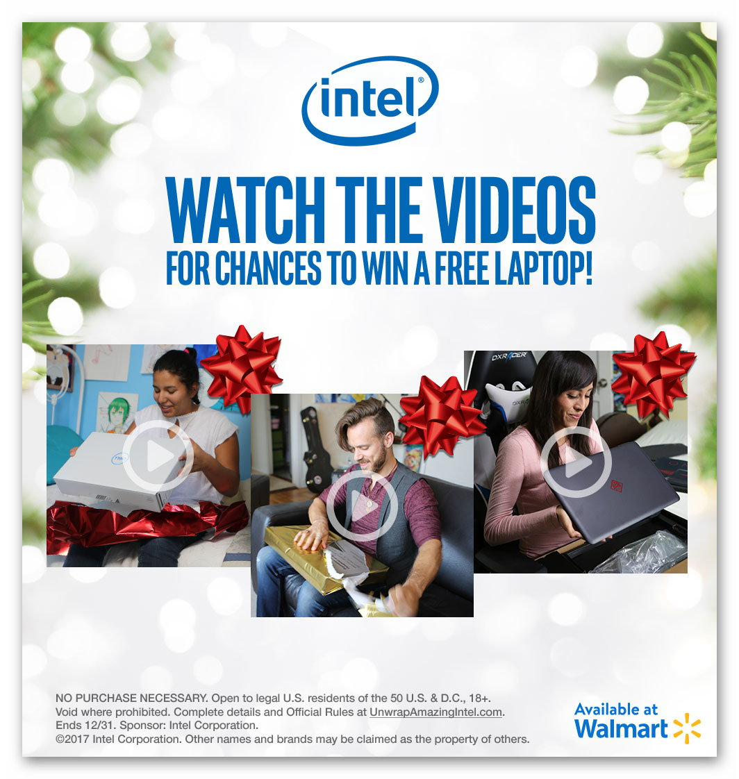 sweepstakes promotions intel unwrap amazing sweepstakes 6 winners ends dec 283