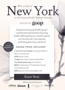 Win a Trip for Two to the In goop Health Summit in New York City