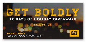 CAT 12 Days of Holiday Giveaways