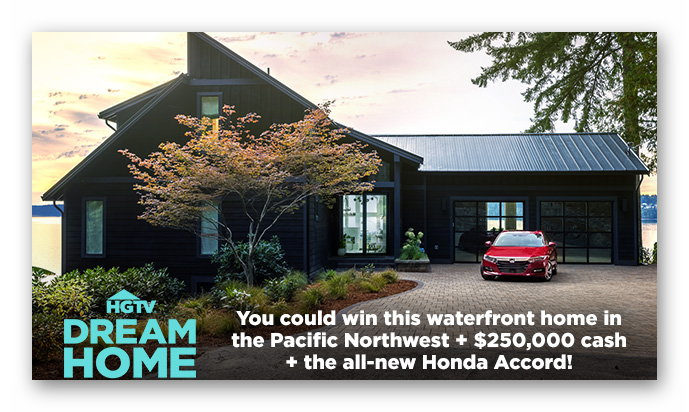 Dream Home Sweepstakes Entry Form