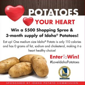 Win a $300 Shopping Spree and 3 Month Supply of Idaho Potatoes