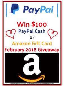 Win $100 PayPal Cash or Amazon Gift Card