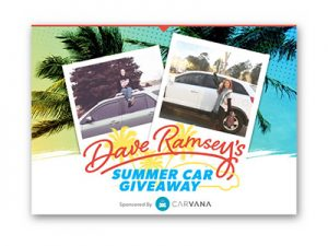 Dave Ramsey's Summer Car Giveaway