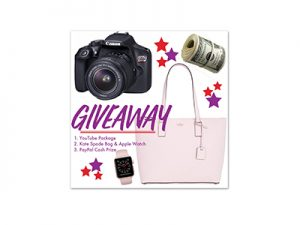 Winner's Choice: Canon YouTube Bundle or Apple Watch & Kate Spade or $600 PP Cash