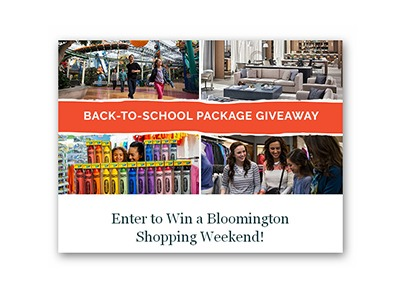 Win a Bloomington Back to School Shopping Weekend