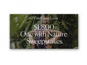 One with Nature Sweepstakes