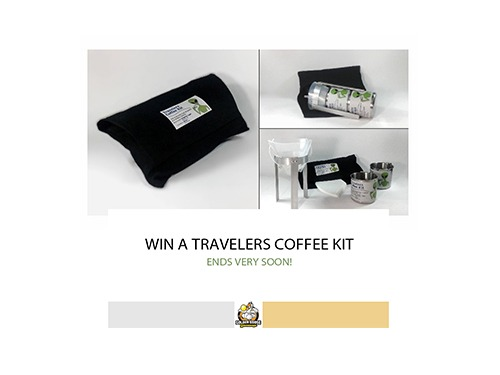 Ending SOON! Win a Travelers Coffee Kit