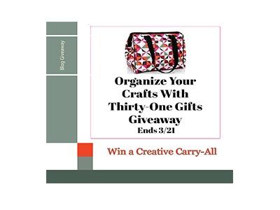 Win a Thirty One Craft Organizing Bag