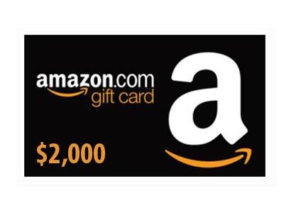 Win a $2,000 Amazon Gift Card