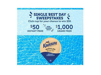 Kaukauna Cheese Instant Win Game