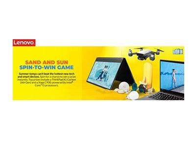 Lenovo Summer Instant Win Game