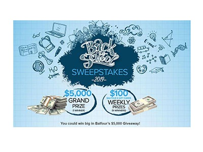 Balfour Back to School Sweepstakes