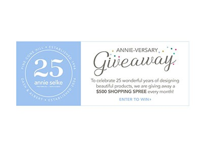 25th Annie-versary Giveaway