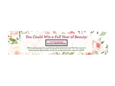 QVC Can't Get Enough Beauty Sweepstakes