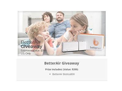 BetterAir Giveaway