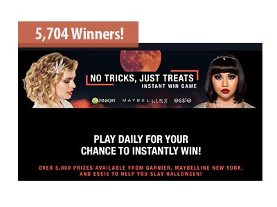 No Tricks, Just Treats Instant Win Game