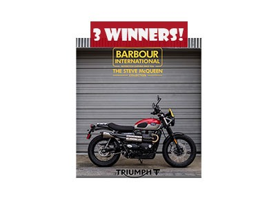 Win a 2019 Triumph Motorcycle