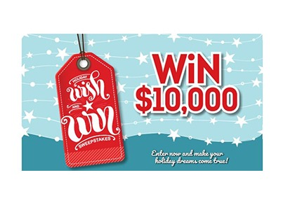 Holiday Wish and Win Cash Sweepstakes