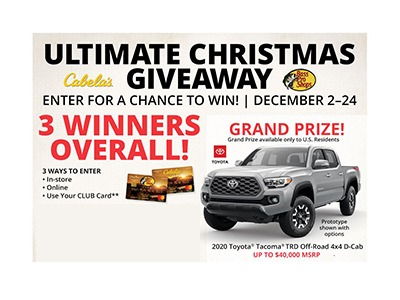 Bass Pro Shop Ultimate Christmas Giveaway