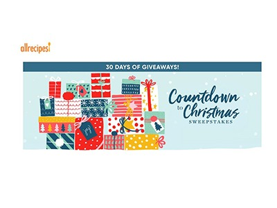 All Recipes Countdown to Christmas Sweepstakes