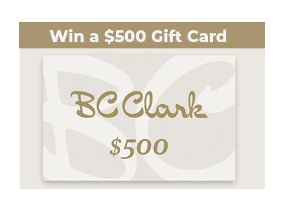BC Clark $500 Gift Card Giveaway