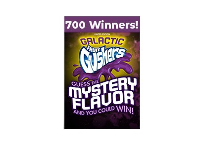 Galactic Gushers Mystery Flavor Instant Win Game