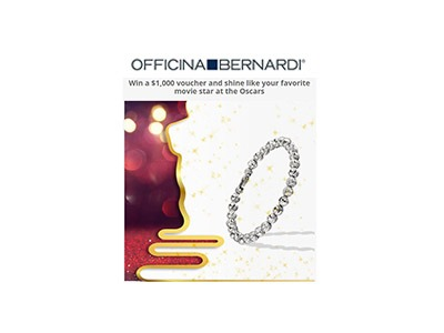 Officina Bernardi's  $1,000 Shopping Spree Sweepstakes