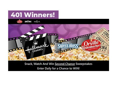 Snack, Watch, Win Second Chance Sweepstakes