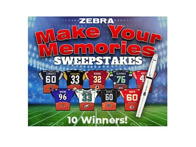 Zebra Make Your Memories Sweepstakes