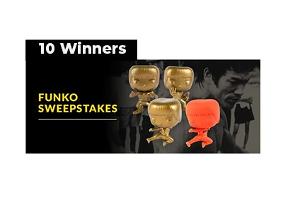 Bruce Lee Funko POP Sweepstakes