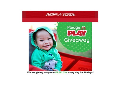 Radio Flyer Pledge to play Giveaway