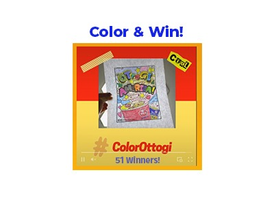 Color and Win Cash Sweepstakes