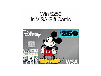Top Disney $250 VISA Card Giveaway