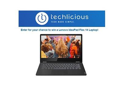 Techlicious Lenovo Laptop Giveaway 2020