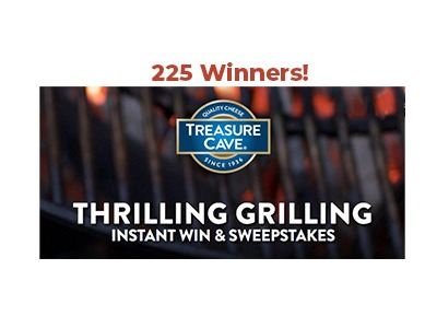Treasure Cave Instant Win Sweepstakes